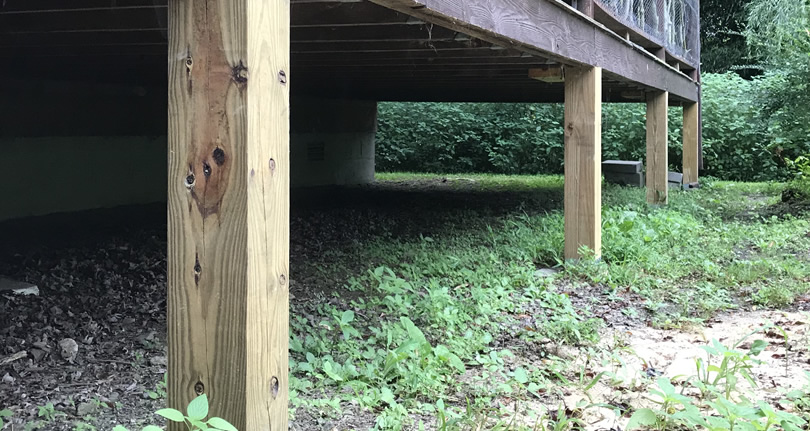 Replacing Deteriorating Log Cabin Porch Supports