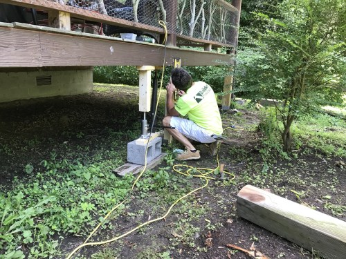 Leveling the support - Replacing Deteriorating Log Cabin Porch Supports – Project Small House