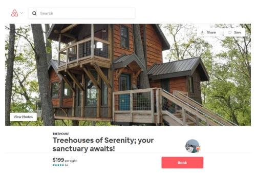 Treehouse of Serenity on Airbnb - Tree House in Asheville – Project Small House