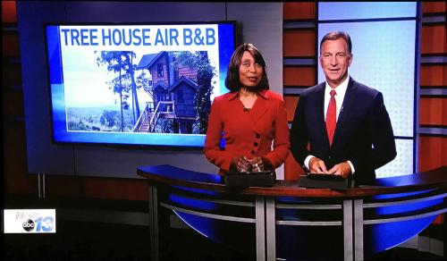 Tree House Airb B&B on WLOS Channel 13 News - Tree House in Asheville – Project Small House