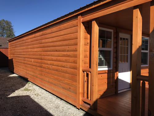 Windows only on the front - Clearance 14 x 38 Log Cabin – Project Small House