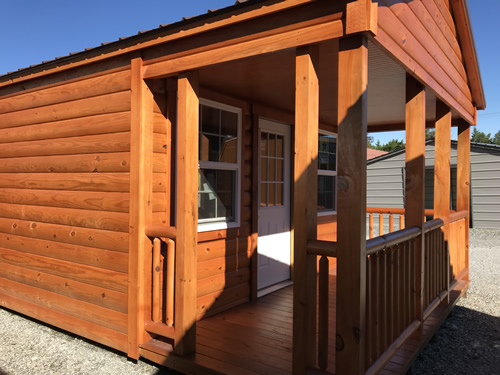 6' x 14' covered front porch - Clearance 14 x 38 Log Cabin – Project Small House