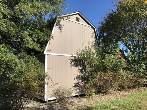 The back of the Summer Wind barn - Summer Wind: Two Floor Storage Barn – Project Small House