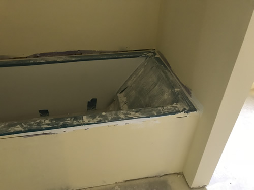 Before - Cultured Marble Vanity Tops and Tub Surround – Project Small House