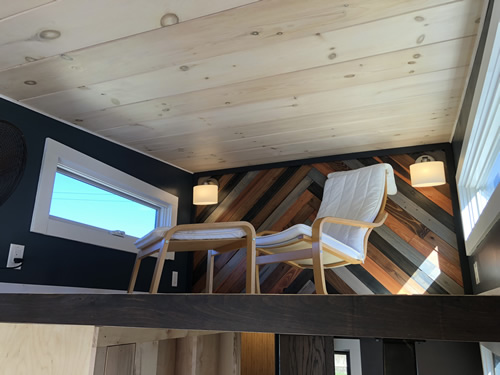 The loft area gives additional space in a tiny cabin built by Blue Ridge Tiny Homes - More Photos from the Open House at Acony Bell Tiny Home Village – Project Small House