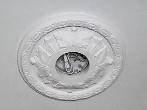 The medallion for the entry - Ceiling Medallions in the Dining Room and Entry – Project Small House