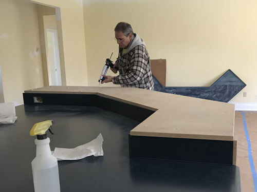 Blobs of silicone - Corian Countertops in the Kitchen - Schumacher Homes Cross Creek – Project Small House