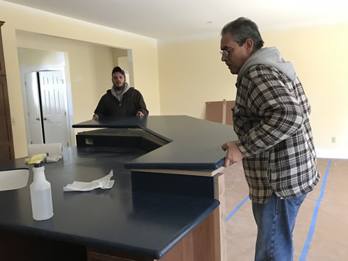 Placing the bar - Corian Countertops in the Kitchen - Schumacher Homes Cross Creek – Project Small House