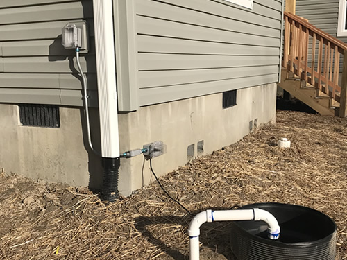 They extended the power so that the pump power cord can reach. - We got our CO! (Certificate of Occupancy) – Building our Schumacher Home – Project Small House