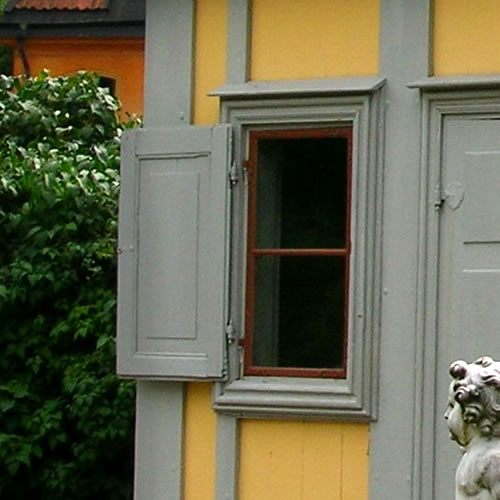 Traditional Swedish shuttered window - Inspiration: Swedish Summer House