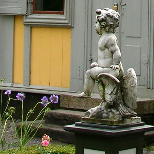 Statuary in the garden around the Emanuel Swedenborg Summer House - Inspiration: Swedish Summer House