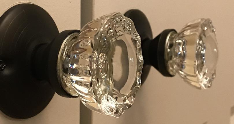 Putting Glass Door Knobs on the Closet Doors