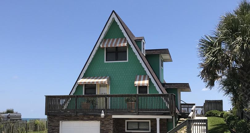 A-Frame House on the Beach