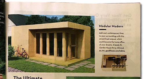 Modular Modern Tiny House Special Good Housekeeping magazine August 2019