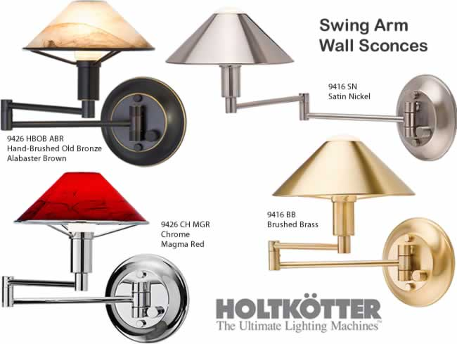 Holtkotter Swing Arm Wall Lamps