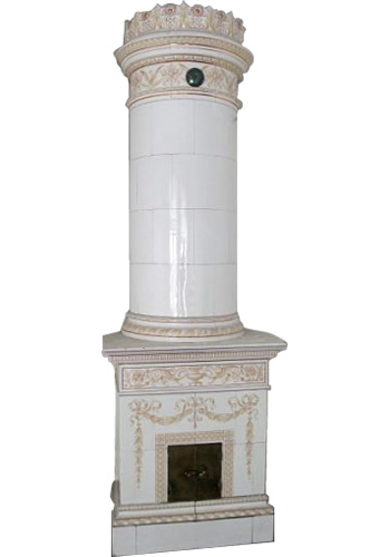 Column Kakelugn Swedish Tiled Stove