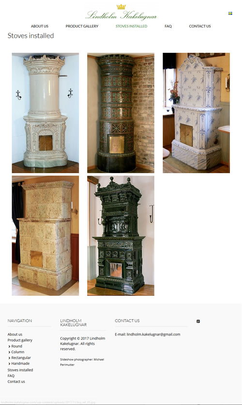 Lindholm Kakelugnar has Round, Column, Rectangular and Handmade Swedish Tiled Stoves