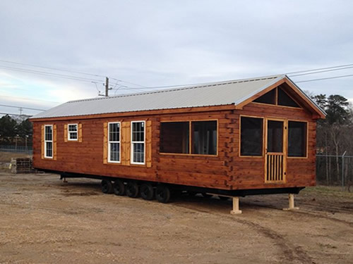Park model log cabin from Avery Cabin Co