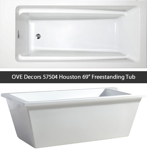 "OVE Decors 57504 Houston 69"" Freestanding Tub"