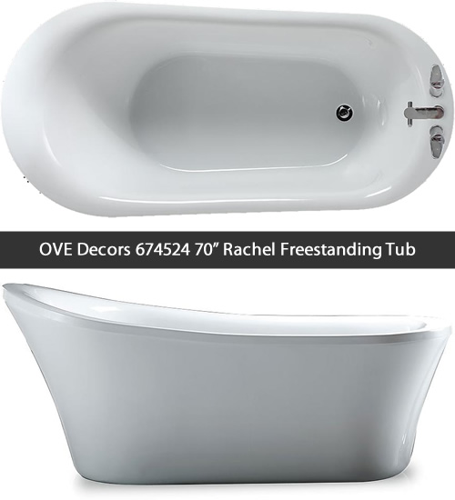 "OVE Decors 674524 70"" Rachel Freestanding Tub"