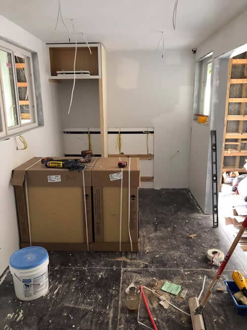 Starting on the kitchen