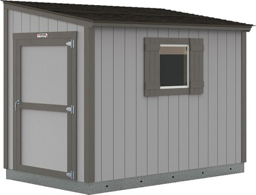 Tuff Shed Premier Lean-To painted Dovers Gray with Knight's Armor trim