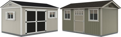 Premier Tall Ranch and Premier PRO Ranch Tuff Shed Storage