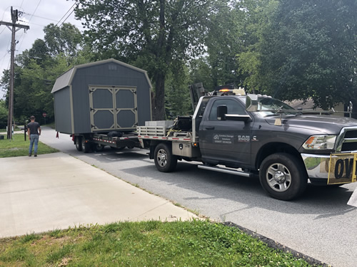 Delivering the barn