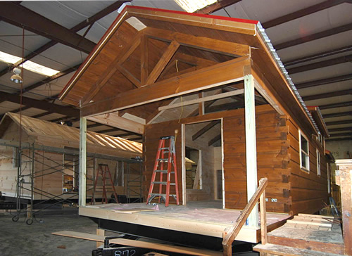 Green River Log Cabins are build indoors