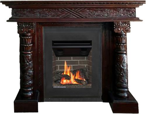 Valor Portrait Ledgeview gas fire with our mantel