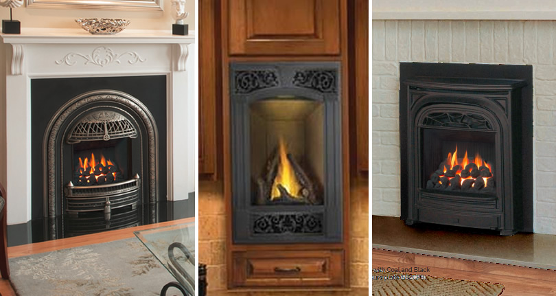 Vented or Non-Vented Built-in Gas Fireplaces