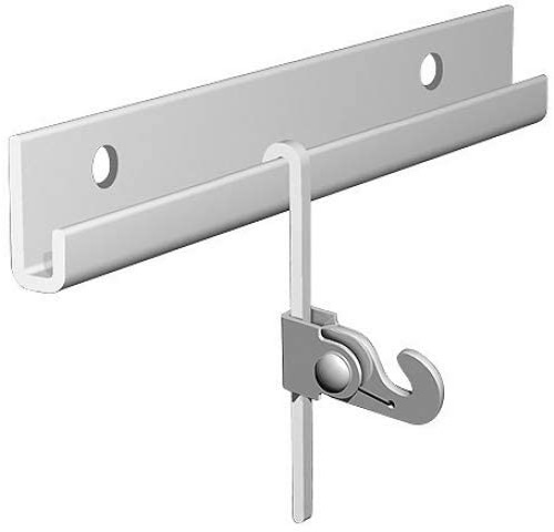 Arti Gallery White Classic French Gallery Rod Combo Kit French Gallery Rail and French Gallery Rods with Locking Hooks Gallery Rods are S-Bent Rods with locking hooks for pictures