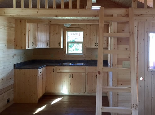 Pine Kitchen with Countertop