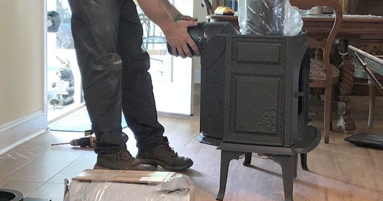 Installing the Jotul Sebago Free Standing Gas Fireplace