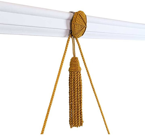 Vera Rosette and Tassel Picture Hanger with Rail Hook from House of Antique Hardware, Inc.
