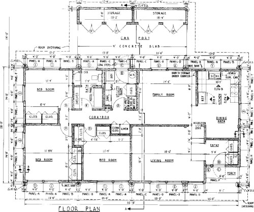 Pole and Panel 3 Bedroom Farmhouse House Plan