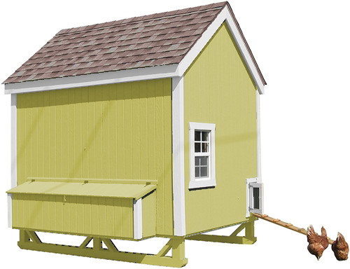 Green Paint on a Little Cottage Company Chicken Coop Kit