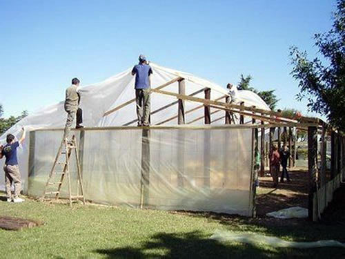 Greenhouse made with A&A Green Store UV Resistant Clear Polyethylene Film Greenhouse Plastic