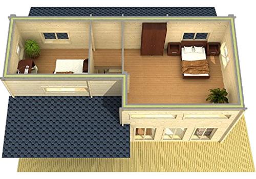 Allwood Eagle Point Cabin Upstairs Floor Plan