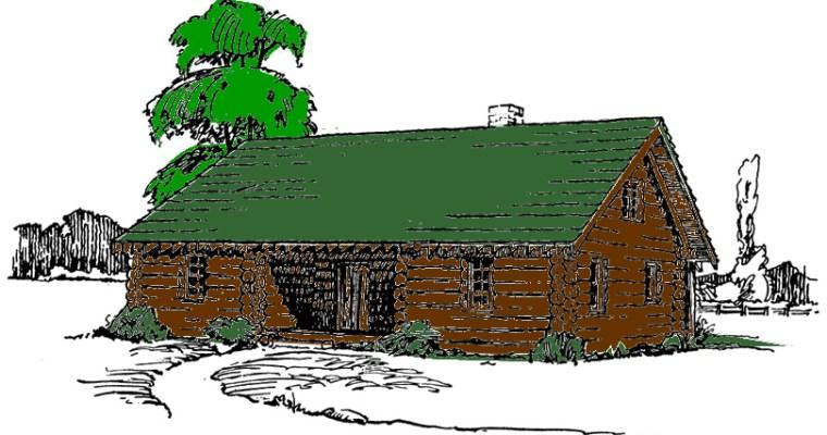 DIY 5-Room Log Cabin Plans