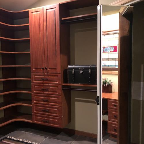 Mirror Bi-fold Door to Cedar Lined Hanging Closet