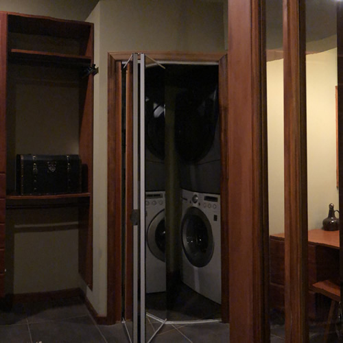 Washer and Dryer in Custom Closet
