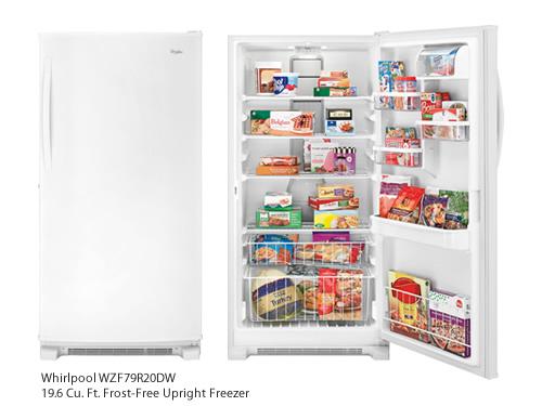 Whirlpool WZF79R20DW 19.6 Cu. Ft. Frost-Free Upright Freezer