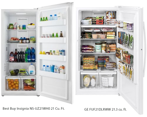 GE and Insignia Upright Freezers