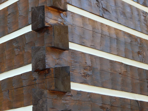 Log Cabins for Less - Chinking or Not? Choose your Log Profile and Corner System