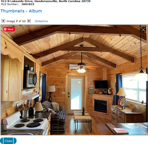 Inside the Small Modular Log Cabin on Lake Osceola