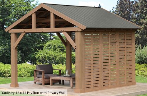 Yardistry Wood Privacy Wall Kit