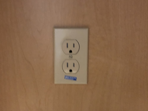 Outlet inside the cabinet