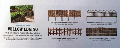 Border Booster - Willow Edging March 2021 Country Living