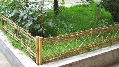 Master Garden Products PE-42 Trellis Bamboo Edging Panels